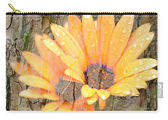 Yellow Flower Bark Carry-all Pouch