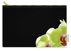 Yellow Flower Black Background Carry-all Pouch