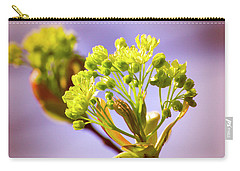 Yellow Flower Close Up Carry-all Pouch by Vlad Baciu