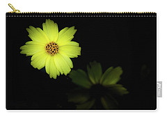 Yellow Flower Carry-all Pouch by Jay Stockhaus