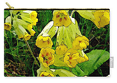 Yellow Flowers 2 Carry-all Pouch by Jean Bernard Roussilhe