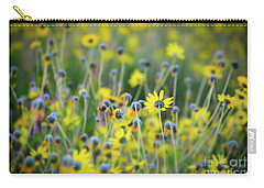 Yellow Flowers Carry-all Pouch by Kelly Wade
