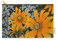 Yellow Flowers Zoom Carry-all Pouch