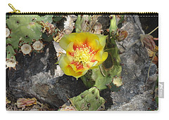 Yellow Cactus Flower Blossom Carry-all Pouch