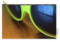 Carry-all Pouch featuring the photograph Yellow Goggles With Reflection by Carlos Caetano