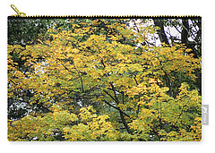 Carry-all Pouch featuring the photograph Yellow Gold Fall Tree by Ellen Barron O'Reilly