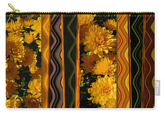 Carry-all Pouch featuring the photograph Yellow Gold Mums Abstract by Brooks Garten Hauschild