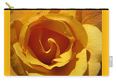 Carry-all Pouch featuring the photograph Yellow Gold Swirl 2 - Roses From The Garden by Brooks Garten Hauschild