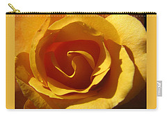 Yellow Gold Swirl - Rose Macro Carry-all Pouch