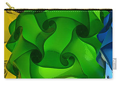 Yellow Green And Blue Carry-all Pouch