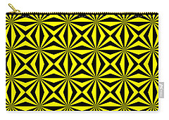 Carry-all Pouch featuring the digital art Yellow Happiness by Lucia Sirna
