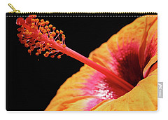 Carry-all Pouch featuring the photograph Yellow Hibiscus by Marie Hicks