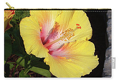 Yellow Hibiscus Carry-all Pouch by Suhas Tavkar