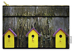 Carry-all Pouch featuring the photograph Yellow Homes - 365-268 by Inge Riis McDonald