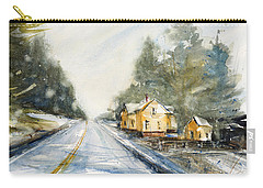 Yellow House On The Right Carry-all Pouch by Judith Levins