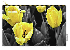 Yellow In Black And White Carry-all Pouch by Steven Parker