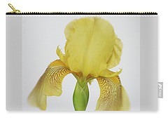 Carry-all Pouch featuring the photograph Yellow Iris A Symbol Of Passion by David and Carol Kelly