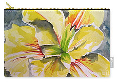 Yellow Iris Carry-all Pouch by Holly York