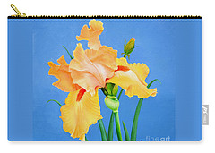 Carry-all Pouch featuring the painting Yellow Iris by Jimmie Bartlett