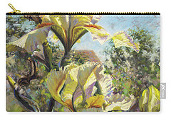 Yellow Iris Carry-all Pouch