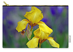 Carry-all Pouch featuring the photograph Yellow Iris by Rodney Campbell