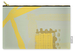Carry-all Pouch featuring the mixed media Yellow Kay by Eduardo Tavares