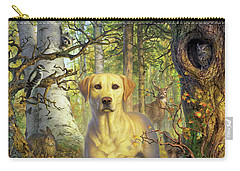Yellow Lab In Fall Carry-all Pouch