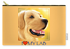 Yellow Lab Portrait Carry-all Pouch