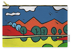 Yellow Lake Carry-all Pouch by SpiritPainter