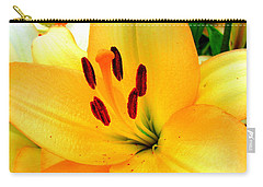 Carry-all Pouch featuring the photograph Yellow Lilies 1 by Randall Weidner