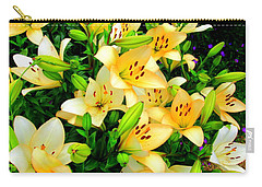 Carry-all Pouch featuring the photograph Yellow Lilies 2 by Randall Weidner