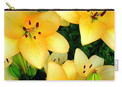 Yellow Lilies 3 Carry-all Pouch by Randall Weidner