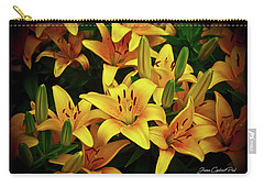 Carry-all Pouch featuring the photograph Yellow Lilies by Joann Copeland-Paul