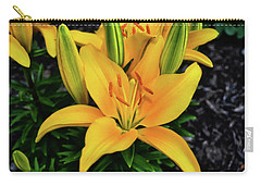 Carry-all Pouch featuring the photograph Yellow Lily 008 by George Bostian