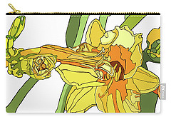 Yellow Lily And Bud, Graphic Carry-all Pouch
