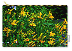 Carry-all Pouch featuring the photograph Yellow Lily Flowers by Susanne Van Hulst