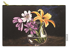 Yellow Lily Carry-all Pouch by Sharon Schultz