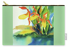 Carry-all Pouch featuring the painting Yellow Moccasin Flowers by Kathy Braud