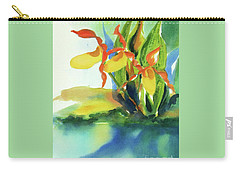 Yellow Moccasin Flowers Carry-all Pouch
