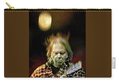Yellow Moon On The Rise Carry-all Pouch by Mal Bray