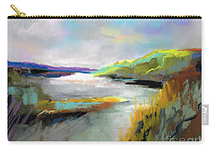 Carry-all Pouch featuring the painting Yellow Mountain by Frances Marino
