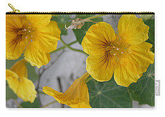 Yellow Nasturtium Carry-all Pouch