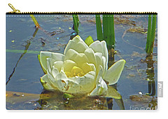 Yellow Nymphaea Alba Damselfy Carry-all Pouch