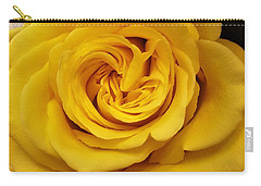 Yellow Ochre Rose Carry-all Pouch by Jim Harris