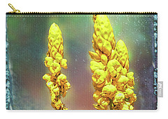 Yellow On Blue Carry-all Pouch by Lewis Mann