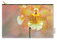 Carry-all Pouch featuring the photograph Yellow Orchid by Ann Bridges