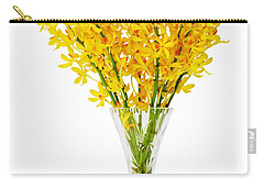 Yellow Orchid In Crystal Vase Carry-all Pouch