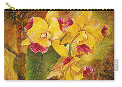 Yellow Orchids Acrylic Carry-all Pouch