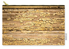 Carry-all Pouch featuring the photograph Yellow Painted Aged Wood by John Williams