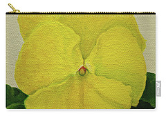 Yellow Pansy Carry-all Pouch